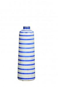 Vase rayé bleu foncé