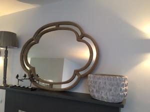 Miroir oval ondulé
