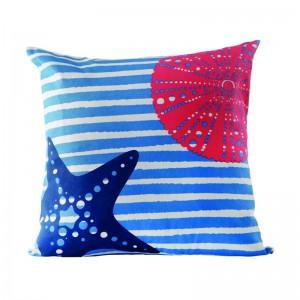 Coussin bleu étoile de mer