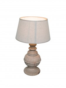 Pied de lampe bois manguier