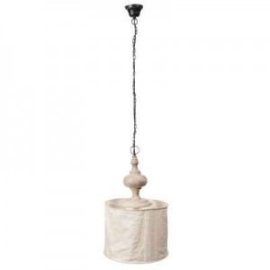 Suspension coton et bois