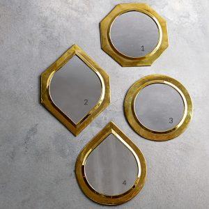 Miroir brass 30 x30 cm