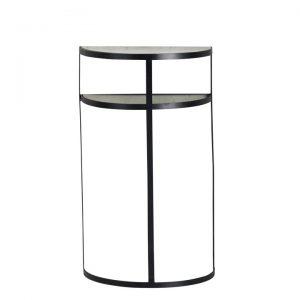 Console métal étagère à miroir